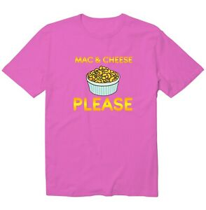 Mac And Cheese Please Funny Saying Unisex Kid Girl Boy Youth Graphic T-Shirt