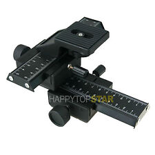 4 Way Macro Focusing Rail Slider Canon EF 100mm F2.8L 5DS R 80D 70D 760D 7D II