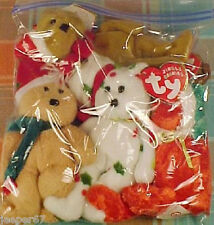 Lot Of Four (4) Ty Jingle Beanies Holiday Teddy Bear Ornaments