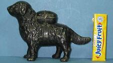 BIG PRICE CUT ~ OLD ORIG RETRIEVER NEWFOUNDLAND DOG W/PACK CAST IRON BANK SM 575