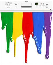 Sticker Lave vaisselle REPOSITIONNABLE déco cuisine Couleurs 60x60cm Réf 215