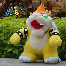 "Super Mario Bros Plush Toy Bowser Koopa 10"" Nintendo Cuddly Stuffed Animal Doll"