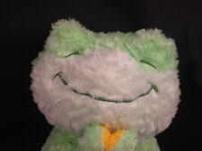 "Bright Stars Praying Frog Smooches Green Blue Plush Stuffed Animal Toy 9"""