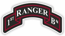 1st Ranger insignia sticker Regiment united states army logo battalion first Bn