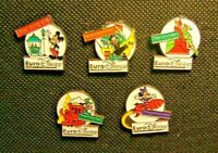 Pin Badge Collection 5 ESSO Mickey Euro Disney Character Collectable Pins