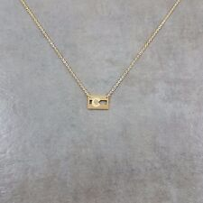 Colorado State Flag GOLD Plated Necklace in Gift Box United States Stripes CO