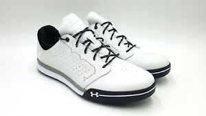 Under Armour Tempo Hybrid Spikeless Golf Shoes White/Black 1270207-160 Sz 8 Rory