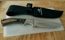 """Winchester Fixed Blade Hunting Knife With Wooden Handle 4"""" Blade With Case"""