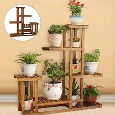 5 Tiers Wooden Plant Pot Stand Flower Display Shelf Garden Patio Indoor Outdoor