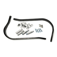 """2x 7/8"""" Universal Black Brush Aluminum Motorcross Grip Guard Handlebar Handguard"""