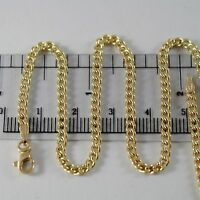 18K YELLOW GOLD BRACELET LITTLE GOURMETTE LINK 2.5 MM, 7.50 INCHES MADE IN ITALY