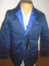 Massimo Dutti Reversible Quilted Jacket NWT Large $275 Navy Blue / Royal Blue