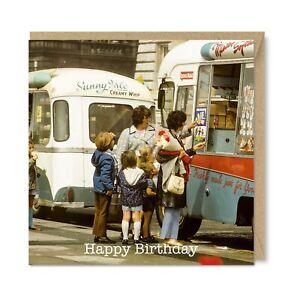 Unique Vintage Retro Greetings Card - Mister Softee, Nostalgia Birthday Gift