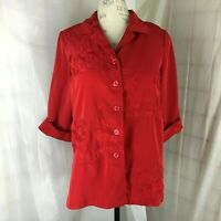 Roaman's Red Blouse size 22 W Plus Shirt Top