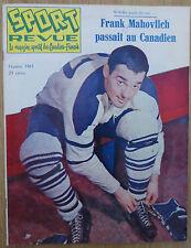 1961 VINTAGE SPORT REVUE MAGAZINE FRANK MAHOVLICH TORONTO MAPLE LEAFS ON COVER