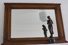 Mirror Large 4ft Wide Oak Mantle Mirror Vintage Antique  - We Can Deliver