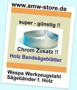 3 MIX Bandsägeblatt 1400mm 6,8,10mm Bandsägeblatt Westfalia 250W,Atika BS205 - K
