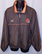 Cleveland Browns Reebok Zip Up Windbreaker Jacket EUC - Mens Large