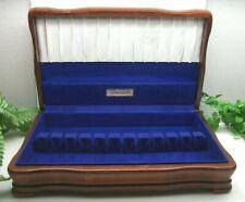 Vtg Oneida Sterling Silverplate Flatware Wooden Wood Storage Chest Case Box 12+