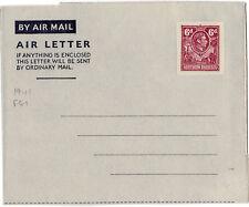 NORTHERN RHODESIA KGVI    6d Air Letter 1940's unused