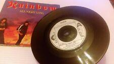 "Rainbow - All Night Long - 7"" Single vinyl 1980 ex"