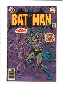Batman #283 DC Comics 1977 Bronze Age Parts of Back Cover Missing