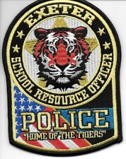 """Exeter  School R.O., Missouri (3.75"""" x 5.25"""" size) shoulder police patch (fire)"""