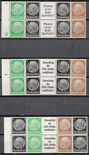 Germany - 1933 Hindenburg 3 blocks from booklet pane sheets - MNH/MH