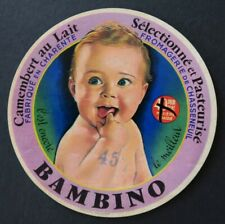Etiquette fromage  CAMEMBERT BAMBINO Chasseneuil  French cheese label 23
