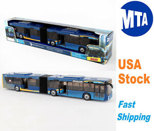 """Daron MTA Articulated Bus New Color New York City Bus Openning Doors 16"""", RT8571"""