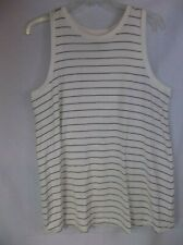 A Pea in the Pod maternity striped Sleeveless knit top ivory black sz. M New NWT