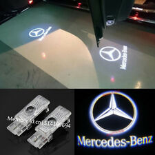2x LED White 3D Logo door welcome Projector light For Mercedes-Benz W203 CLS CLA