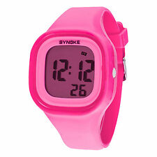 Colorful LED Light Digital Watch Wateproof Detachable Dial For Kids Boys Girls