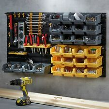 Work Expert 46pc DIY Tool Organiser Storage Bin Rack Wall Mount Garage Board Set