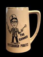 "VTG Pittsburgh Pirates Bob Prince ""The Gunner"" Ceramic Mug MLB 16 oz - 7.75"" H"
