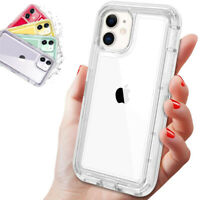 Hard Armor Clear Transparent Case Phone Cover For iPhone 11 Pro Max XS XR 8 Plus