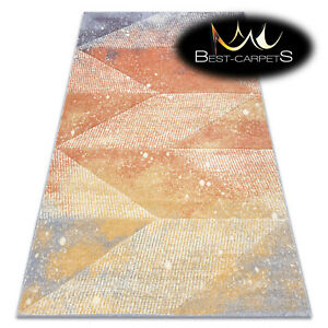 Thick Quality Modern Design Densely Soft Rugs FEEL Diamonds terracotta violet
