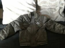 NEXT GIRLS KHAKI GREEN QUILTED BOMBER JACKET 4-5 YEARS