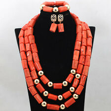 Traditional Nigerian Wedding Bridal African Beads Jewellery Set