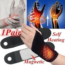 1 pair Self-heating Magnet Wrist Support Brace Protector Tourmaline Wristband