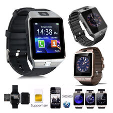For Android With SIM/TF Card Slot & Camera DZ09 Bluetooth Smart Watch Phone Lot