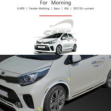 Chrome Fender Molding 8Pcs For KIA Picanto 2017 2018