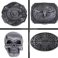 Vintage Men Rodeo Cowboy Belt Buckle Tribal Floral Skull Bull Totem Patterns