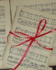 50 Sheets Vintage Music Paper Scores: Crafts Art Decoupage Cards