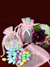 100 Bags. Pink Organza bag Wedding, Bridal, Engagements Baby Shower All Occasion