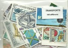 "Lot 100 timbres thematique "" Transports"""