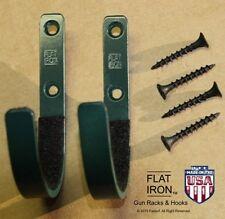 "Flatironâ""¢ Wall Mount Gun Rack Hooks Shotgun Bow Rifle Sword Hangers - Green"