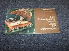1968 Oldsmobile 442 Original Owner Owner's Operator User Guide Manual Book