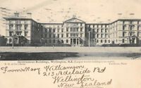 Wellington New Zealand 1905 Postcard Government Building w/ Stamp Posted to USA