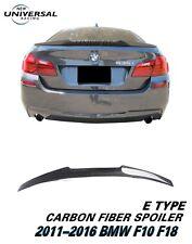 Carbon Fiber Rear Trunk Spoiler for 11-16 BMW F10 F18 5 Series 528i 535i M5 (E)